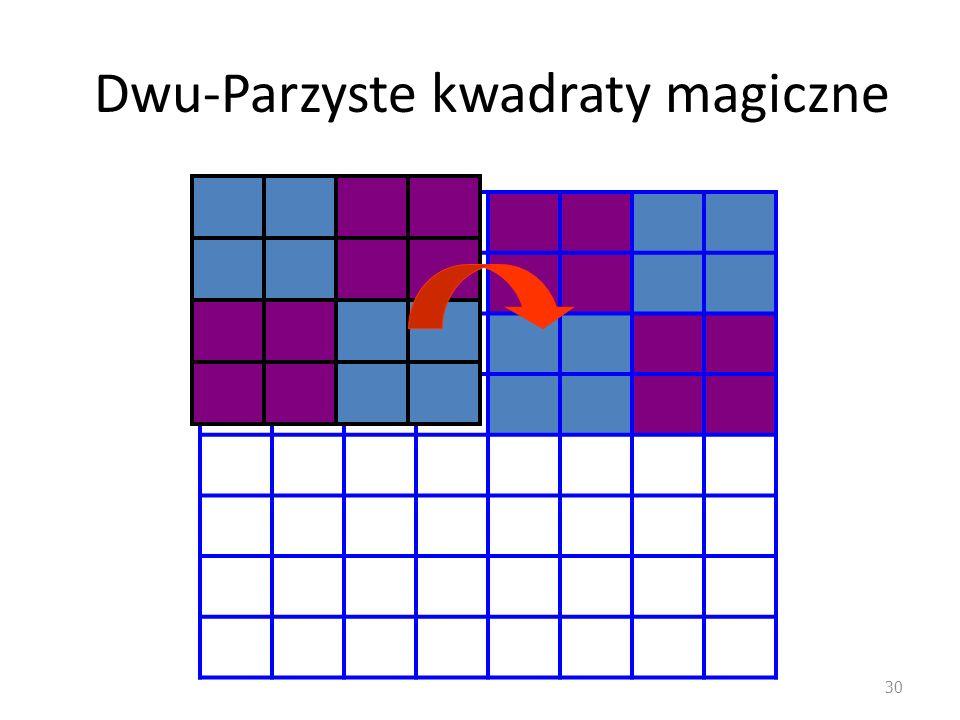 Dwu-Parzyste kwadraty magiczne