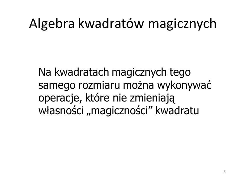 Algebra kwadratów magicznych