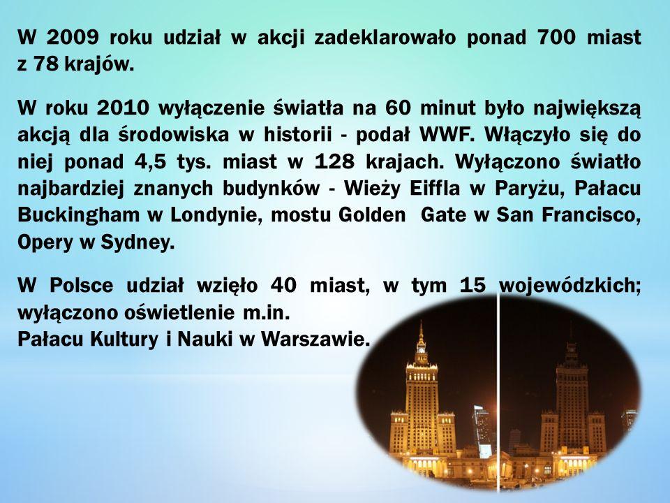 W 2009 roku udział w akcji zadeklarowało ponad 700 miast z 78 krajów.