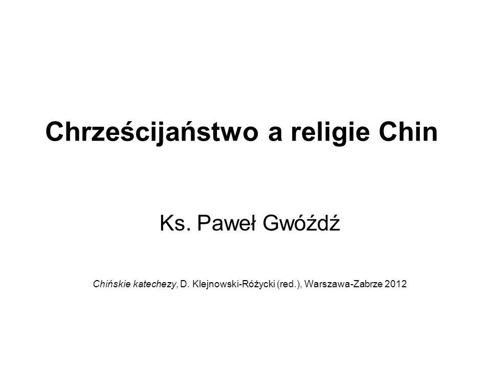 Chrześcijaństwo a religie Chin