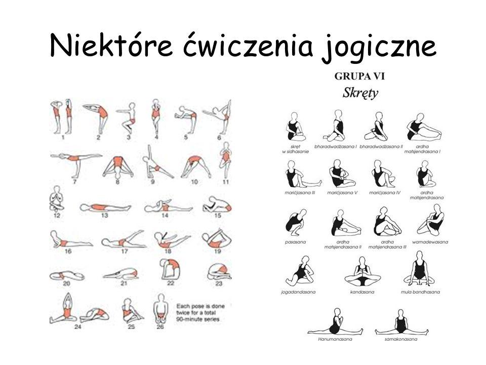 Niektóre ćwiczenia jogiczne
