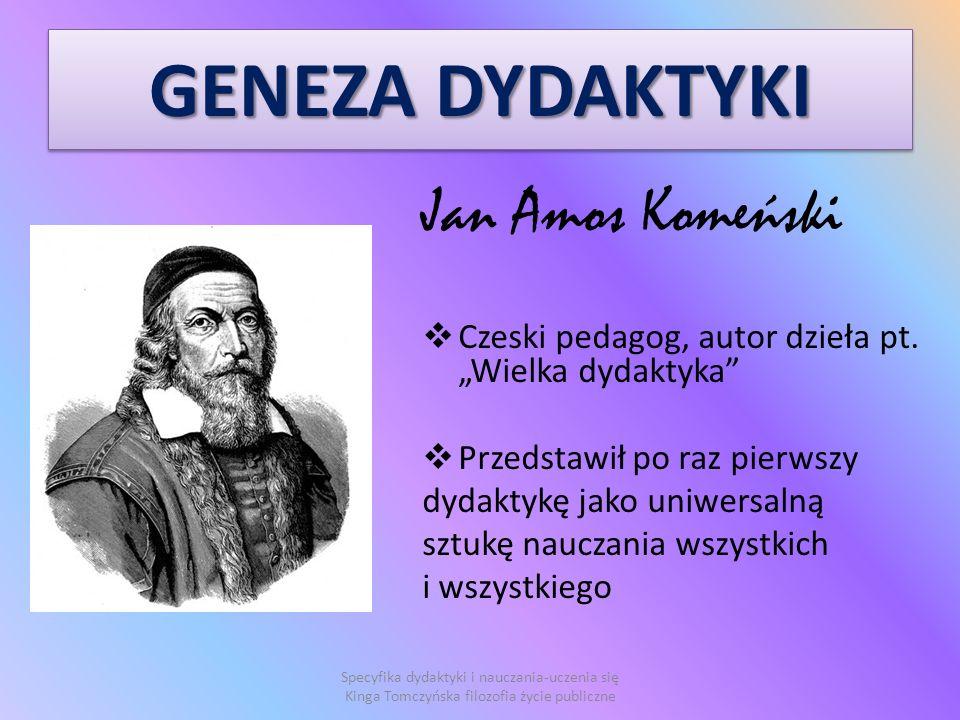 GENEZA DYDAKTYKI Jan Amos Komeński