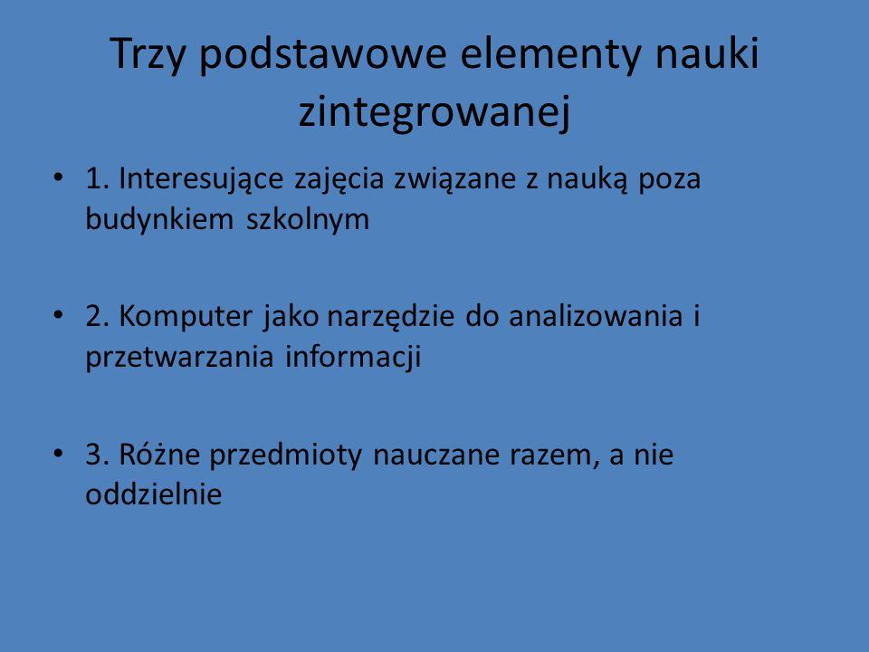 Trzy podstawowe elementy nauki zintegrowanej
