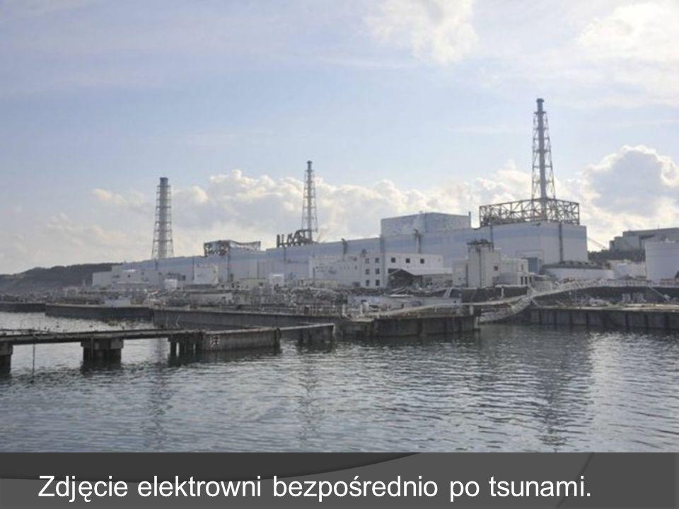 Zdjęcie elektrowni bezpośrednio po tsunami.