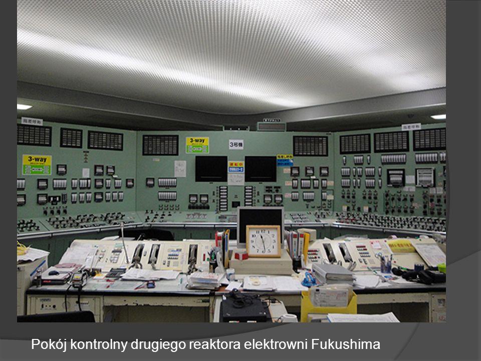 Pokój kontrolny drugiego reaktora elektrowni Fukushima