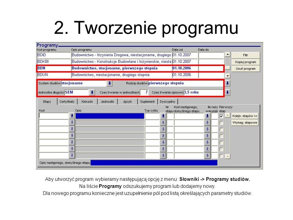 Na liście Programy odszukujemy program lub dodajemy nowy.