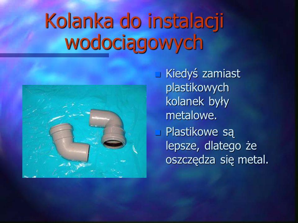 Kolanka do instalacji wodociągowych