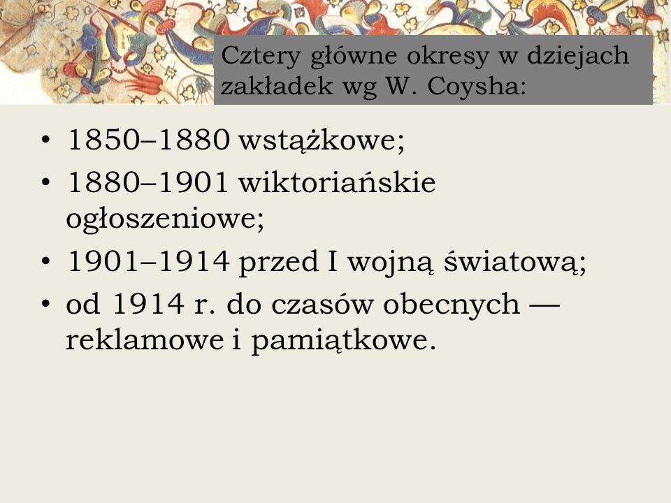 1880–1901 wiktoriańskie ogłoszeniowe;