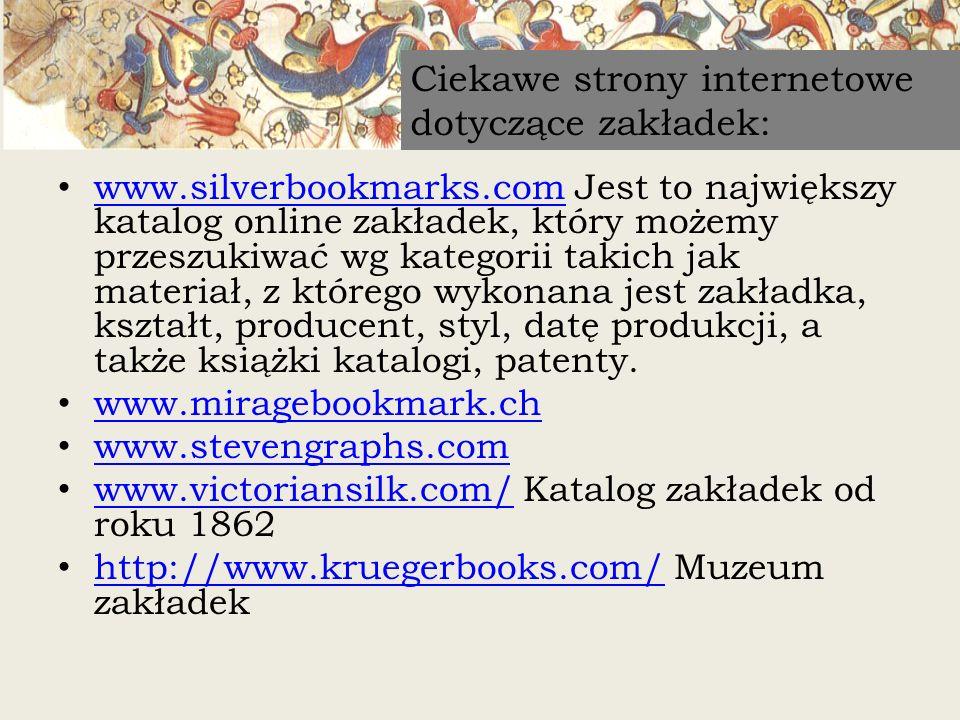 Ciekawe strony internetowe dotyczące zakładek: