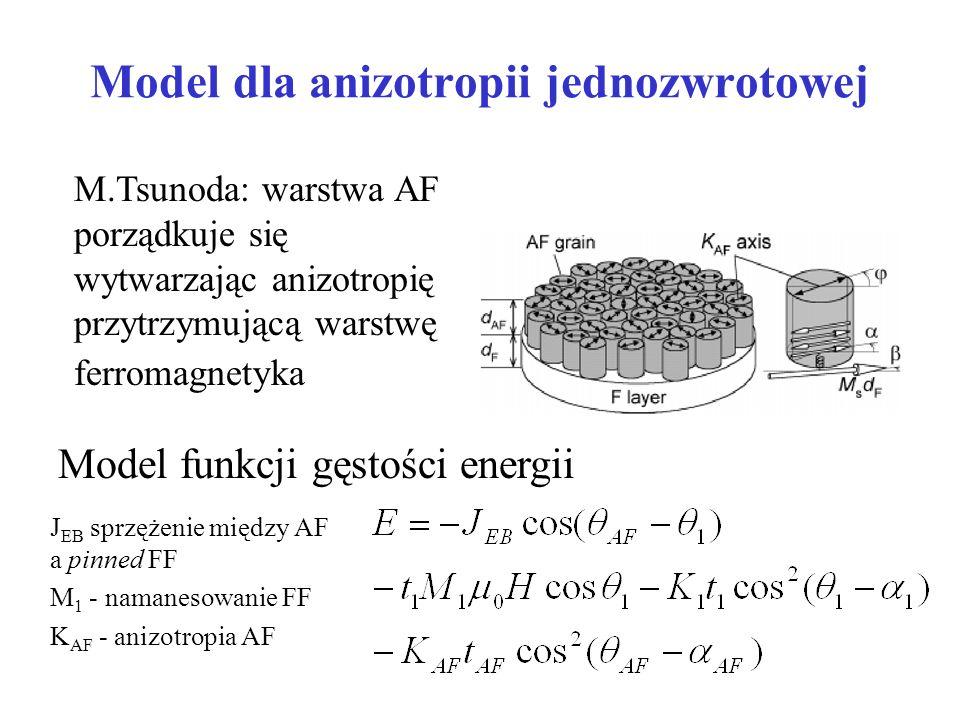 Model dla anizotropii jednozwrotowej