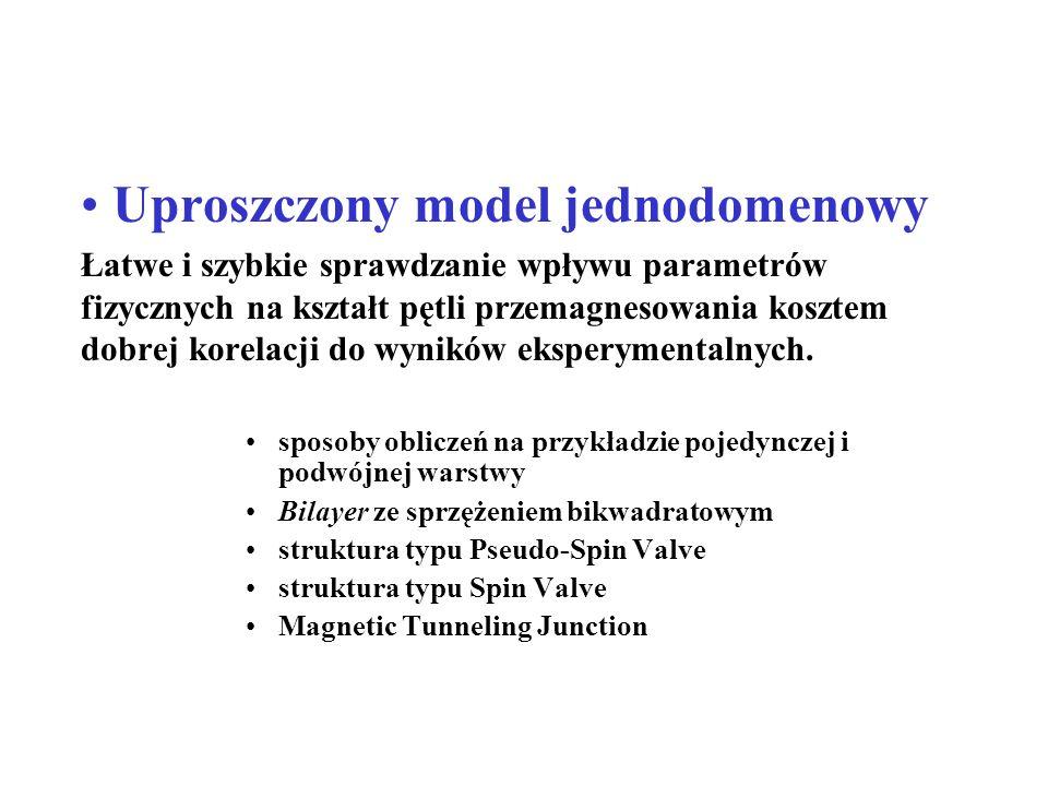 Uproszczony model jednodomenowy