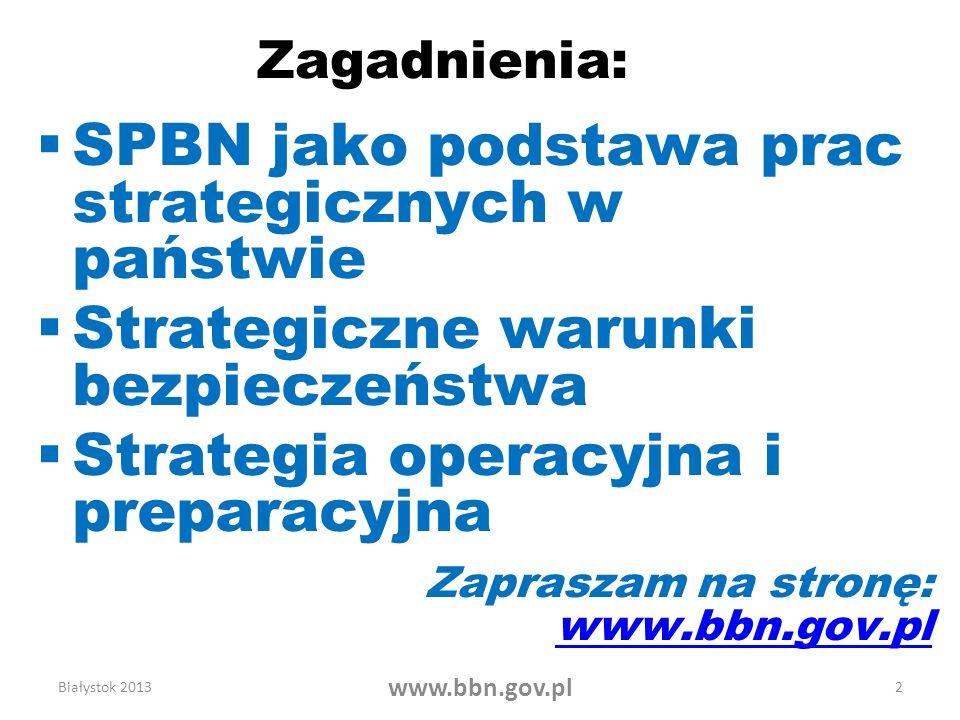 SPBN jako podstawa prac strategicznych w państwie