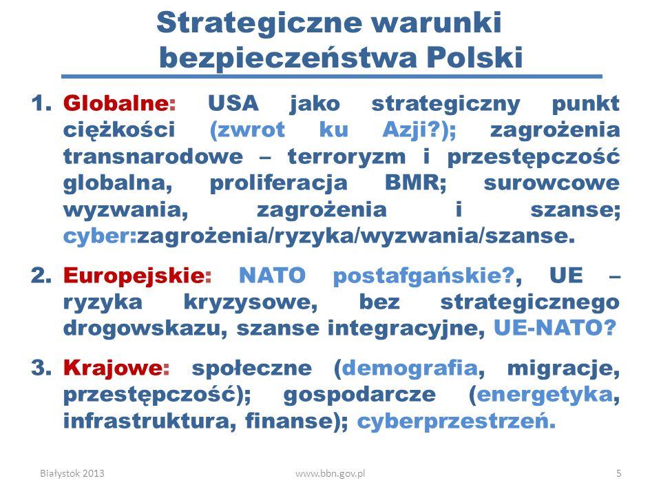 Strategiczne warunki bezpieczeństwa Polski