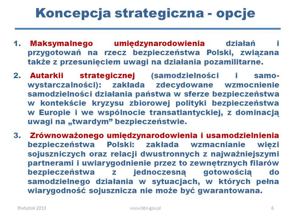 Koncepcja strategiczna - opcje
