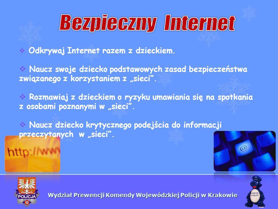 """Bezpieczny InternetOdkrywaj Internet razem z dzieckiem. Naucz swoje dziecko podstawowych zasad bezpieczeństwa związanego z korzystaniem z """"sieci ."""