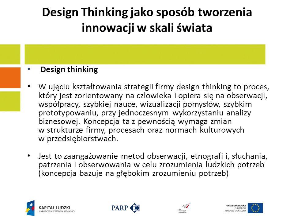 Design Thinking jako sposób tworzenia innowacji w skali świata
