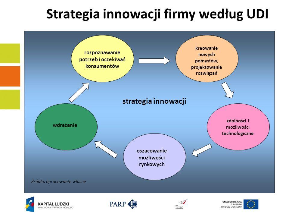 Strategia innowacji firmy według UDI