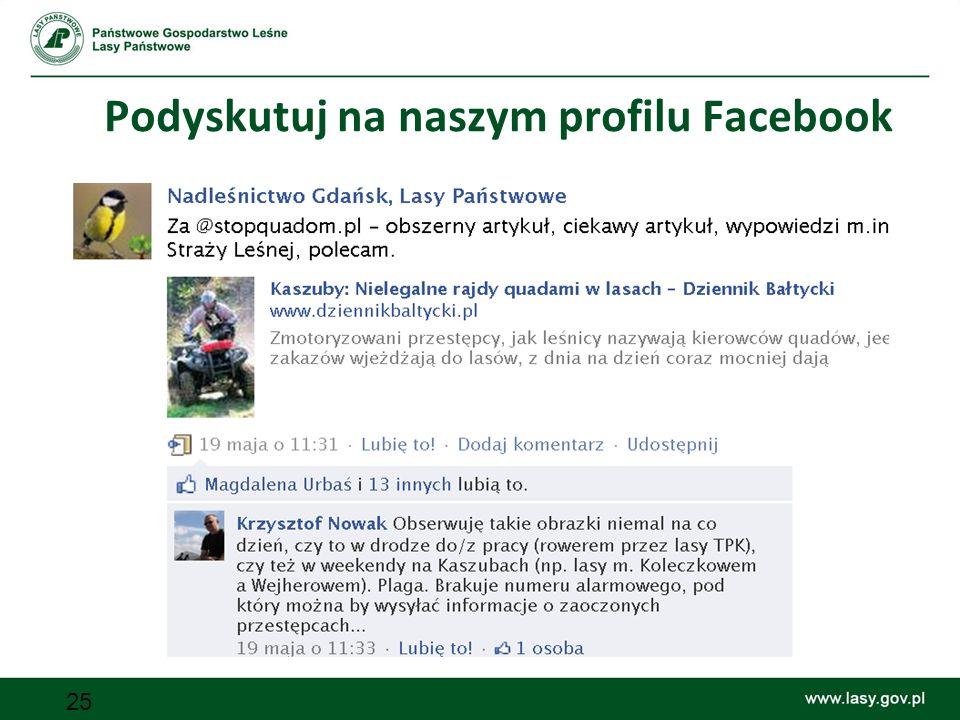 Podyskutuj na naszym profilu Facebook