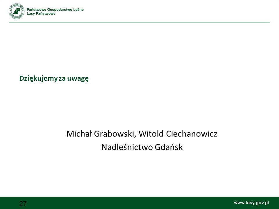 Michał Grabowski, Witold Ciechanowicz Nadleśnictwo Gdańsk