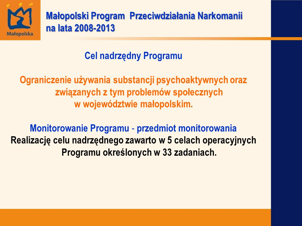 Małopolski Program Przeciwdziałania Narkomanii na lata 2008-2013