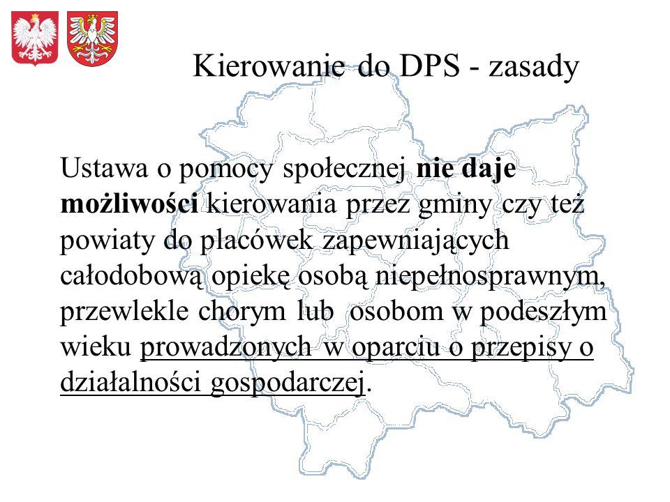 Kierowanie do DPS - zasady