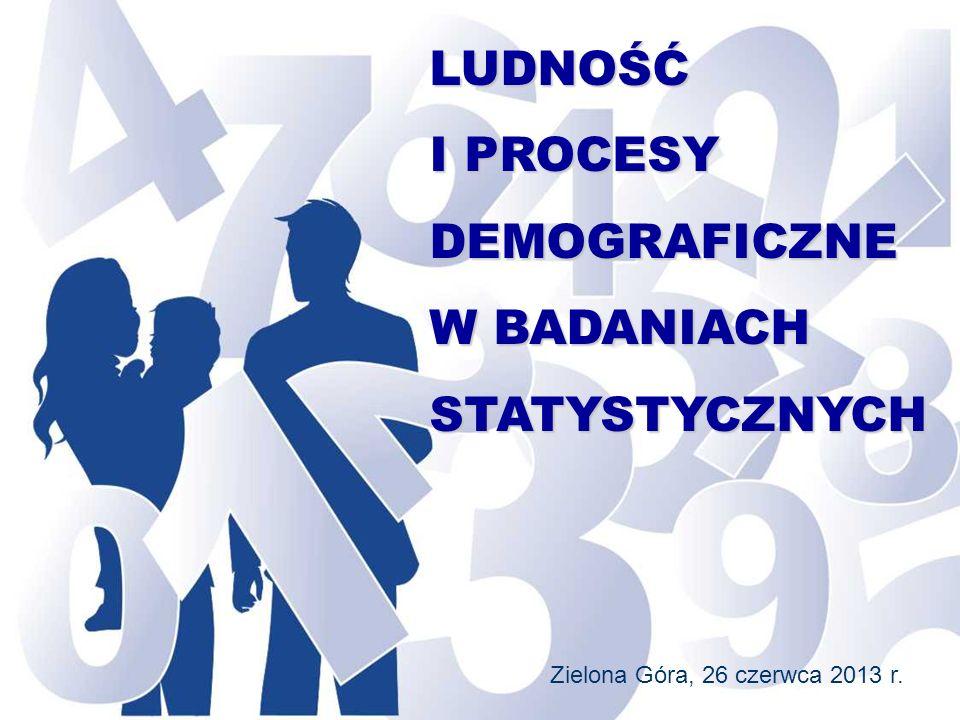 LUDNOŚĆ I PROCESY DEMOGRAFICZNE W BADANIACH STATYSTYCZNYCH
