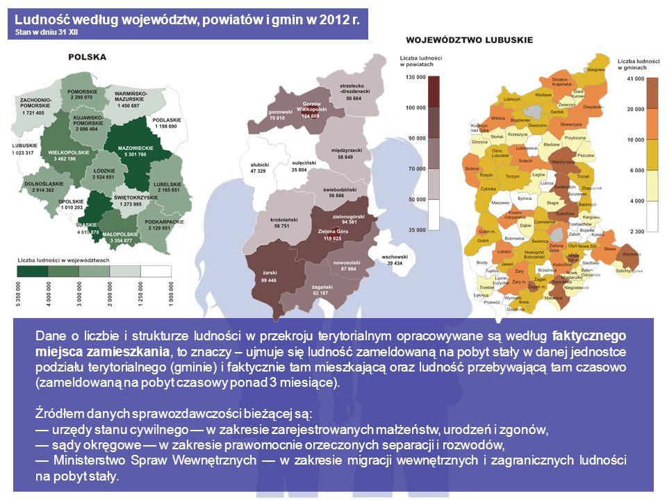 Ludność według województw, powiatów i gmin w 2012 r.
