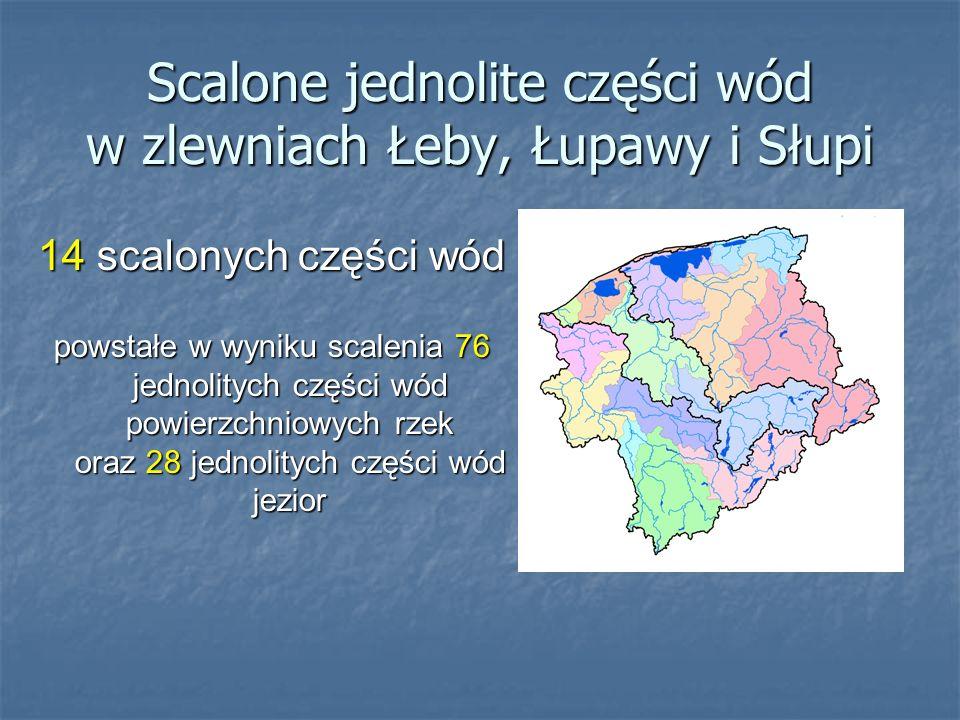 Scalone jednolite części wód w zlewniach Łeby, Łupawy i Słupi