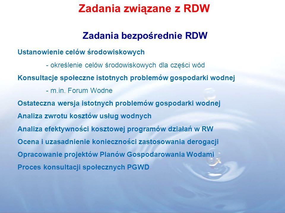 Zadania bezpośrednie RDW
