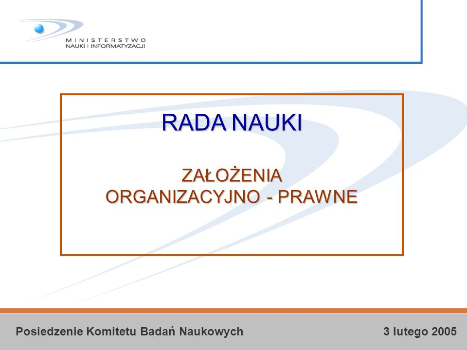 Posiedzenie Komitetu Badań Naukowych 3 lutego 2005