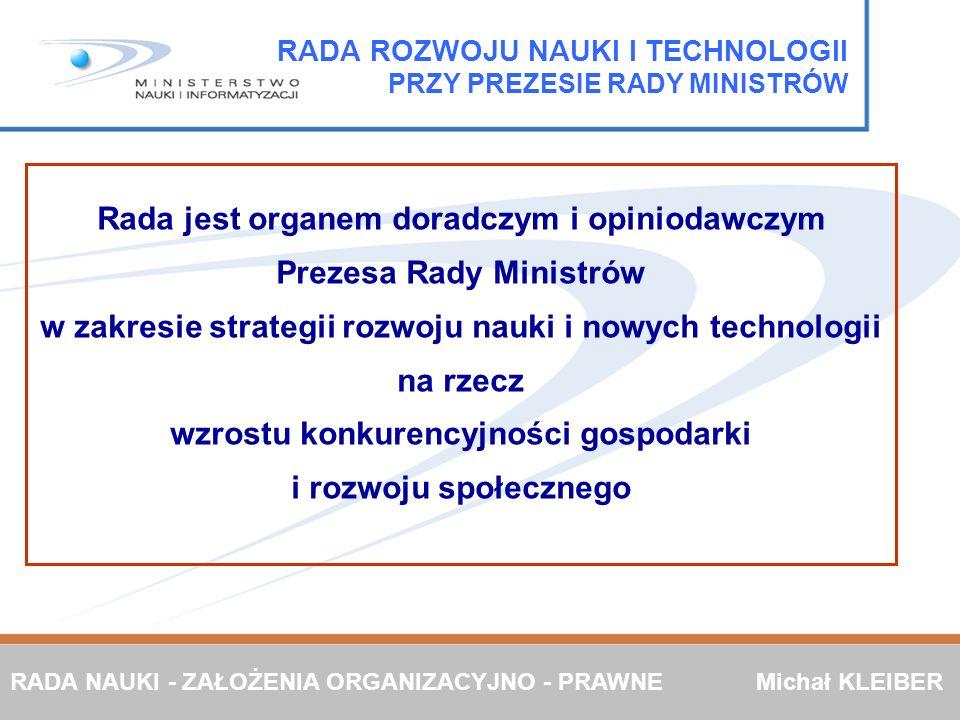 RADA ROZWOJU NAUKI I TECHNOLOGII PRZY PREZESIE RADY MINISTRÓW
