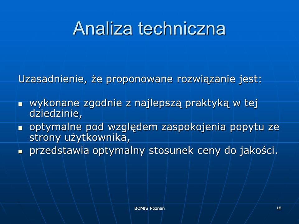 Analiza techniczna Uzasadnienie, że proponowane rozwiązanie jest: