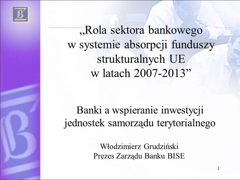 Banki a wspieranie inwestycji jednostek samorządu terytorialnego