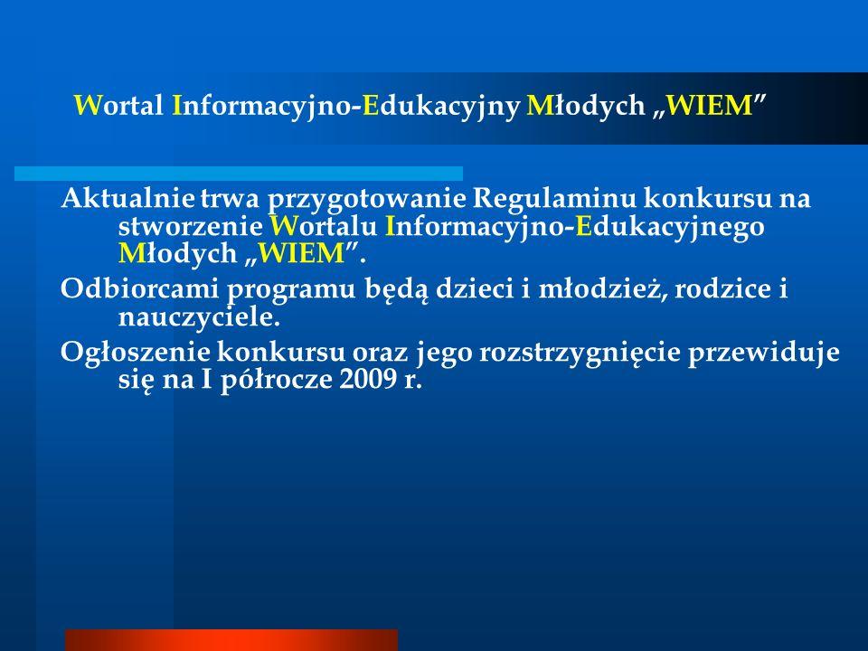"""Wortal Informacyjno-Edukacyjny Młodych """"WIEM"""