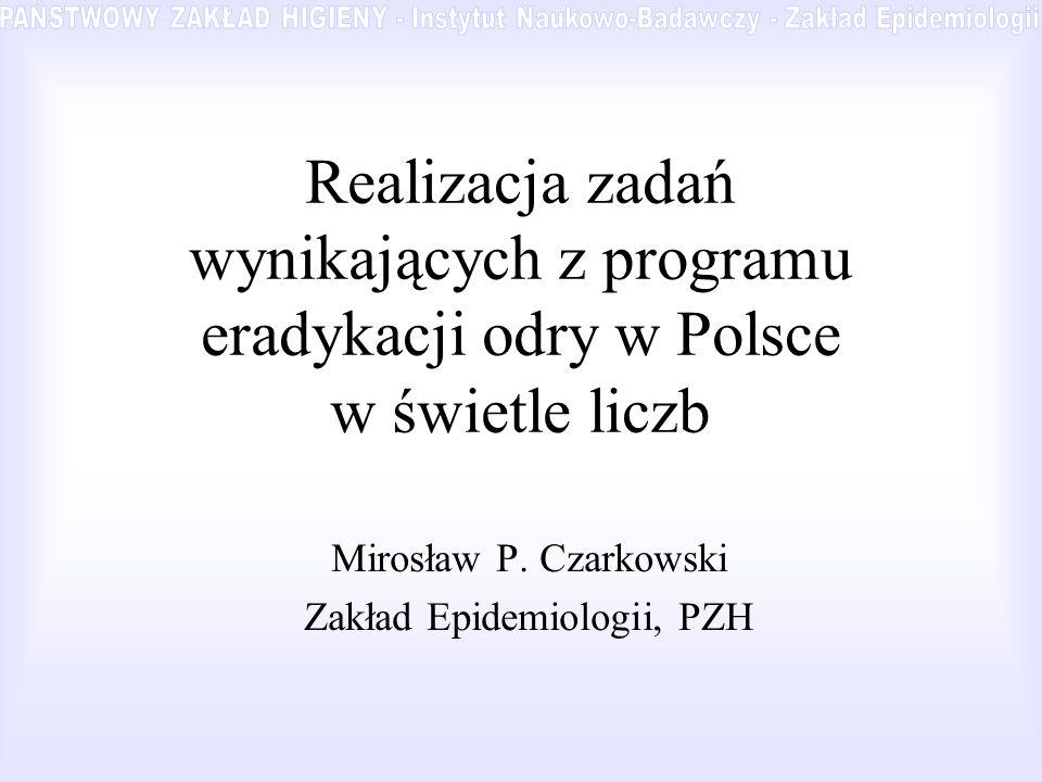 Mirosław P. Czarkowski Zakład Epidemiologii, PZH