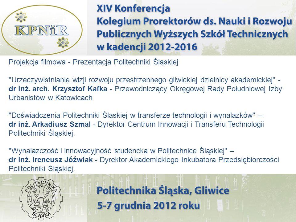 Projekcja filmowa - Prezentacja Politechniki Śląskiej