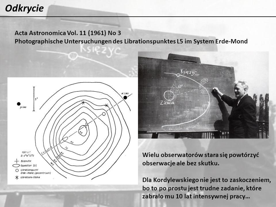 Odkrycie Acta Astronomica Vol. 11 (1961) No 3