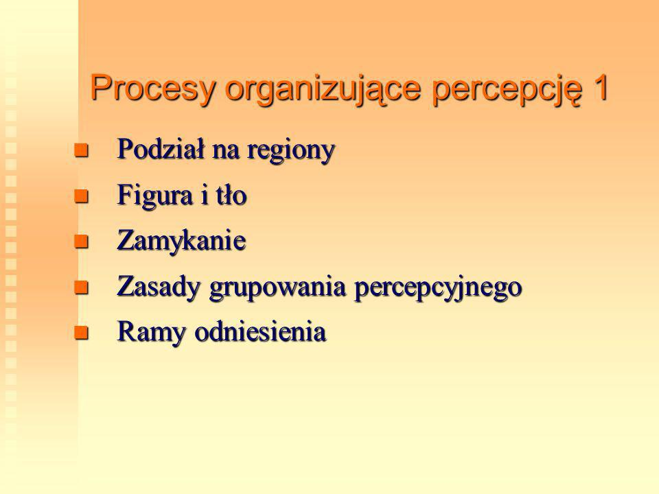 Procesy organizujące percepcję 1