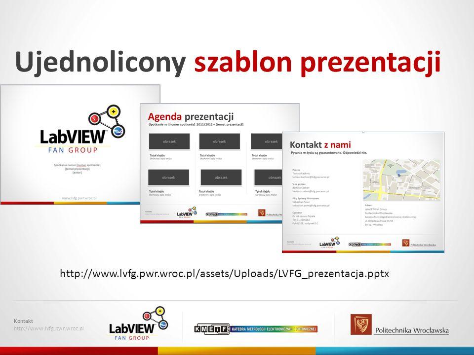 Ujednolicony szablon prezentacji