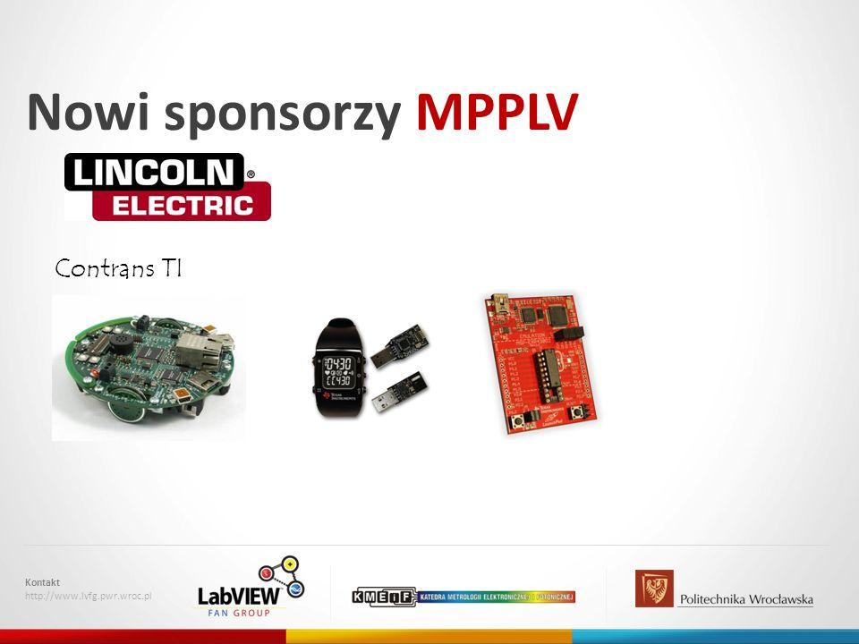 Nowi sponsorzy MPPLV Contrans TI Kontakt http://www.lvfg.pwr.wroc.pl
