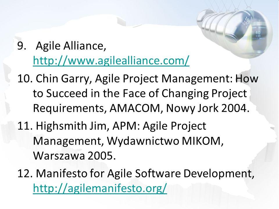 Agile Alliance, http://www.agilealliance.com/