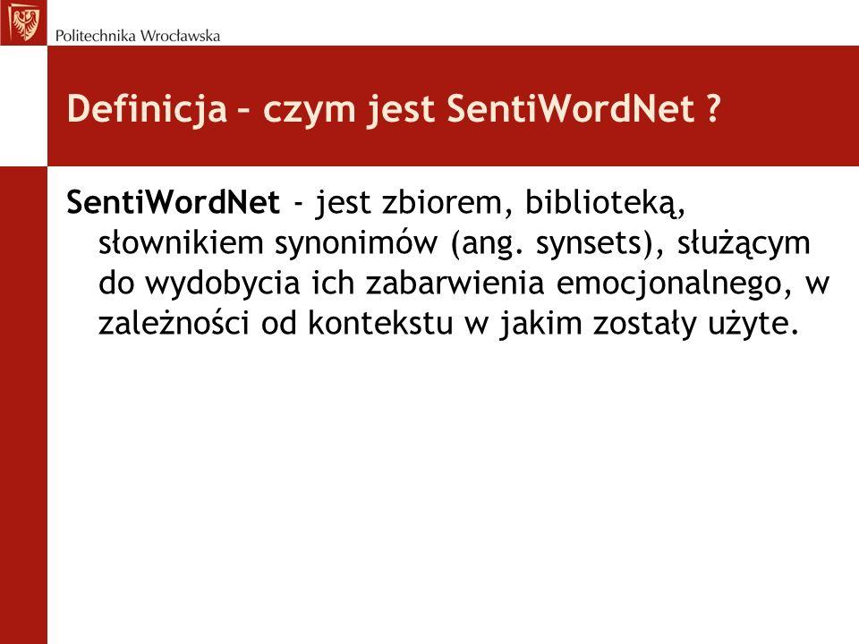 Definicja – czym jest SentiWordNet