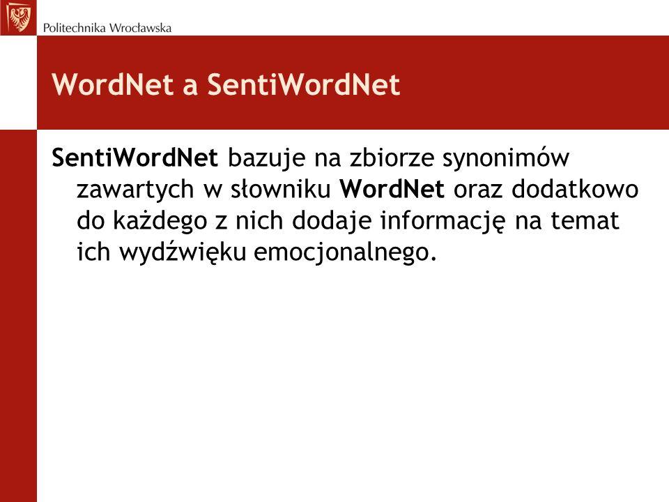WordNet a SentiWordNet