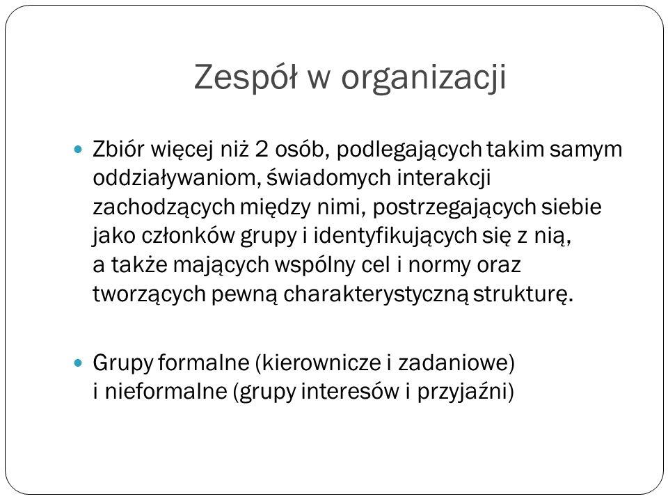 Zespół w organizacji