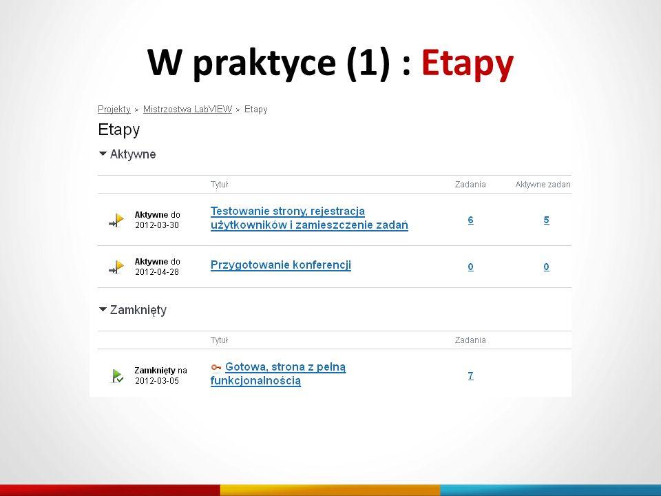 W praktyce (1) : Etapy