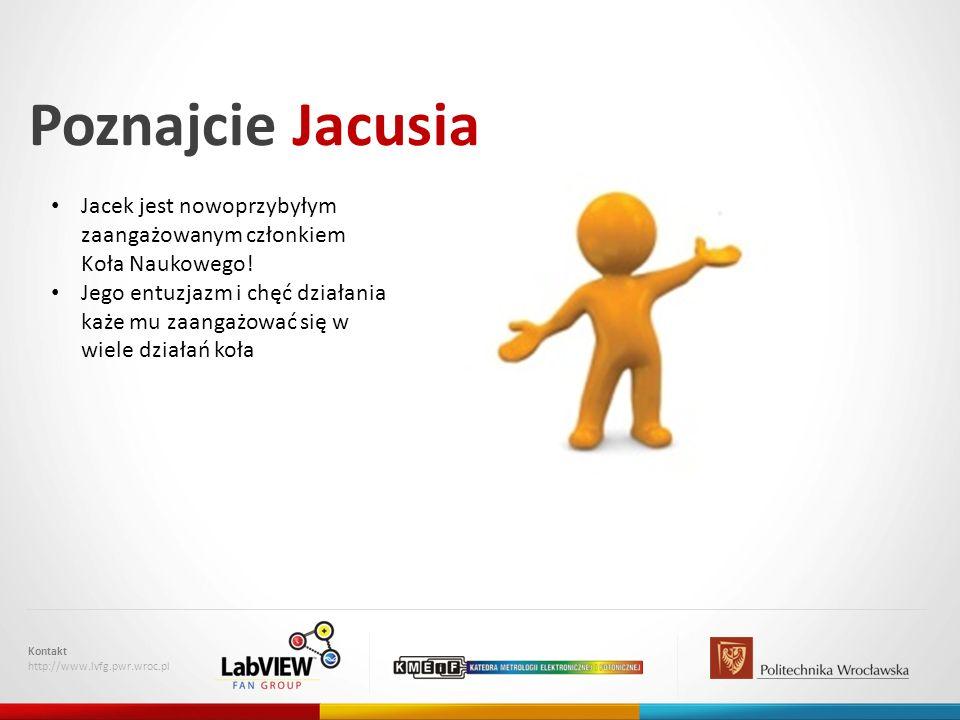 Poznajcie Jacusia Jacek jest nowoprzybyłym zaangażowanym członkiem Koła Naukowego!