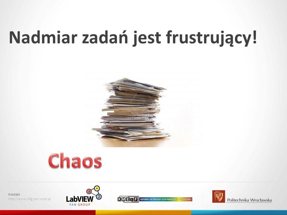 Chaos Nadmiar zadań jest frustrujący! Kontakt