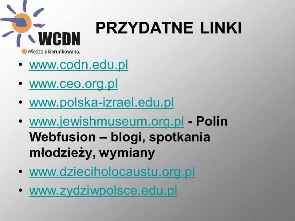 PRZYDATNE LINKI www.codn.edu.pl www.ceo.org.pl