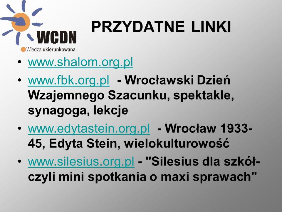 PRZYDATNE LINKI www.shalom.org.pl