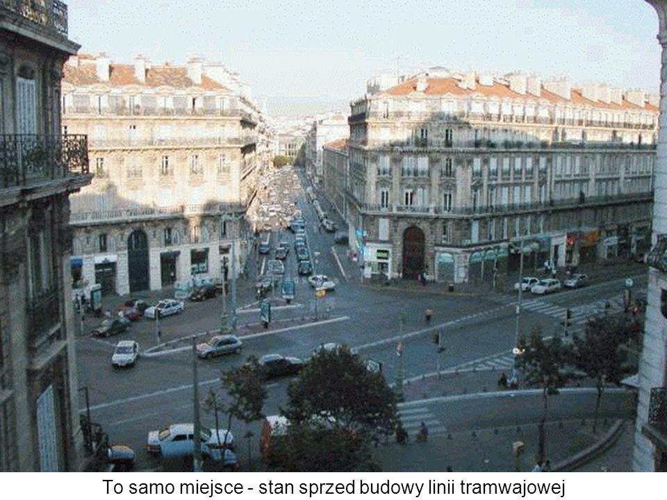 To samo miejsce - stan sprzed budowy linii tramwajowej